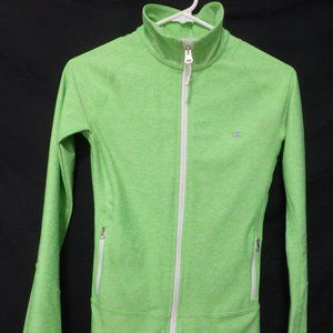 CHAMPION, xs, full zip, lime green exercise jacket